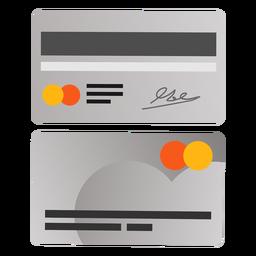 Symbol für die Vorderseite der Kreditkarte
