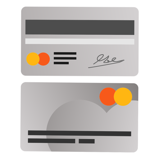 Cartão de crédito frente ícone de volta Transparent PNG