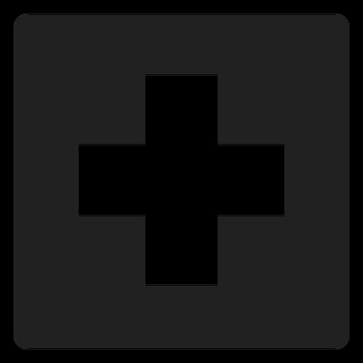 Cruzar el icono cuadrado Transparent PNG