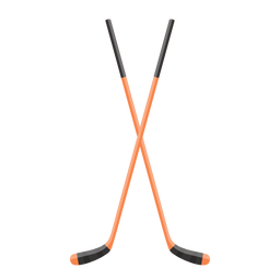 Crossed hockey sticks icon