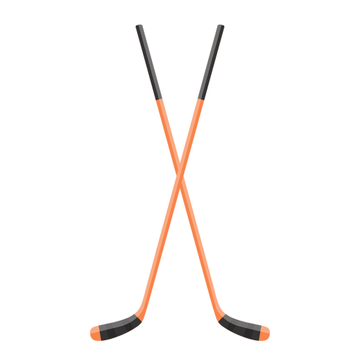 Crossed hockey sticks icon Transparent PNG
