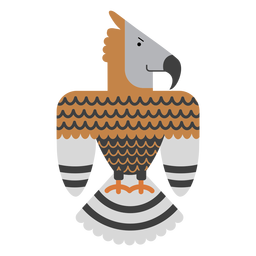 Crowned eagle bird illustration