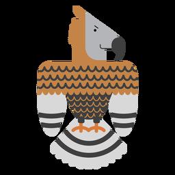 Ilustração de pássaro de águia coroada