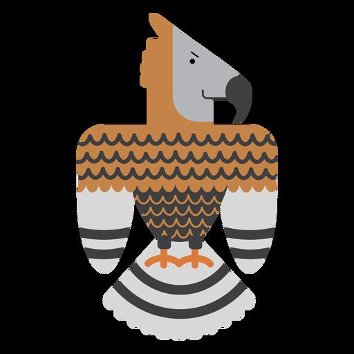 Ilustración de pájaro águila coronada Transparent PNG