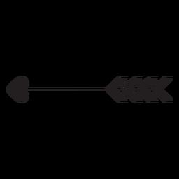Cupid's arrow heart icon