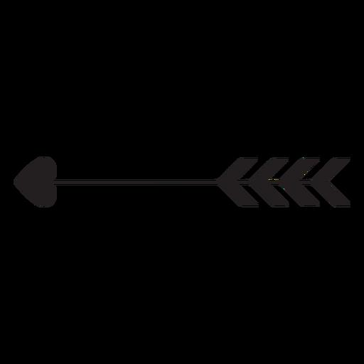 Ícone de coração de seta do Cupido Transparent PNG