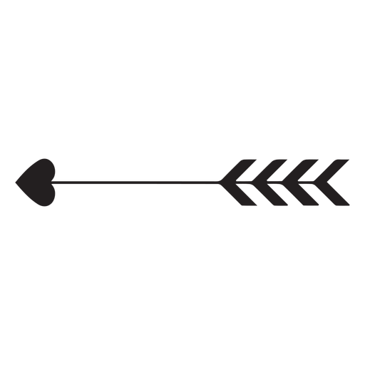 Icono de corazón de flecha de Cupido Transparent PNG
