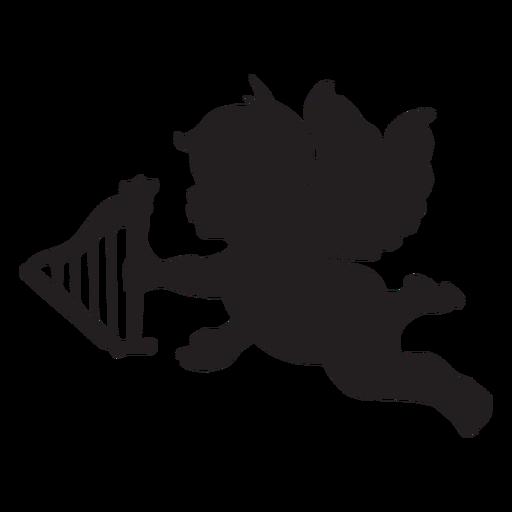 Cupido con una silueta de flecha Transparent PNG