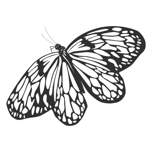 Cute butterfly flying silhouette Transparent PNG