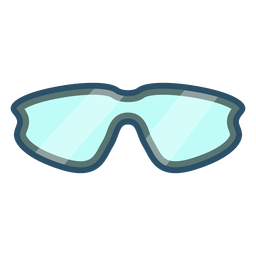 Icono de gafas de ciclismo