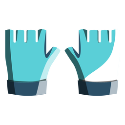 Cycling gloves icon