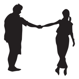 Tanzendes Paar Silhouette