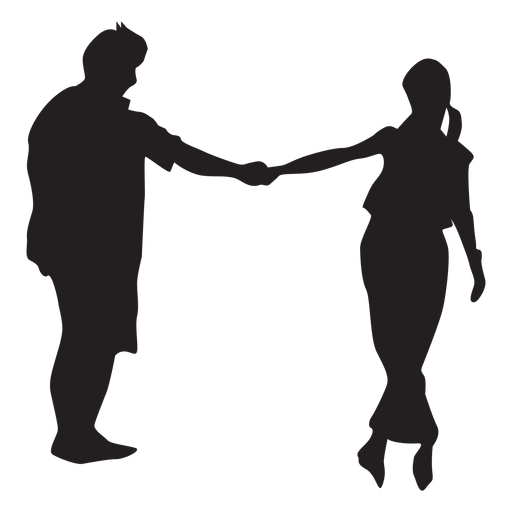 Dancing couple silhouette Transparent PNG