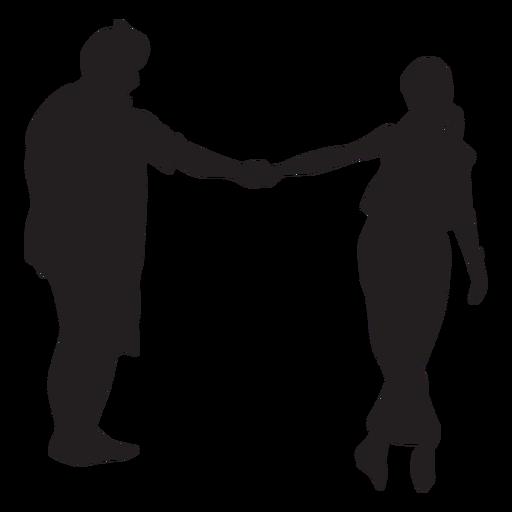 Silhueta de casal dançando