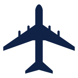 Dc 8 airplane top view silhouette