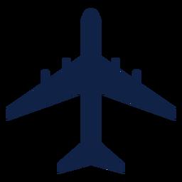 Silueta de vista superior de avión dc 8