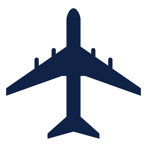 Dc 8 airplane top view silhouette Transparent PNG