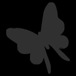 Silhueta de voar de borboleta delicada