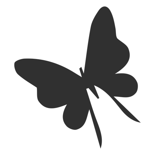 Delicate butterfly flying silhouette Transparent PNG