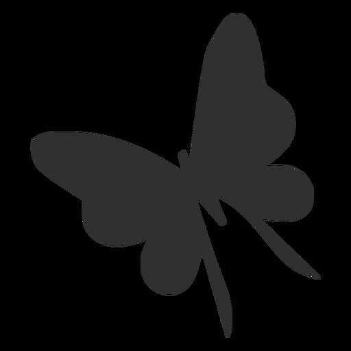 Mariposa delicada silueta voladora Transparent PNG