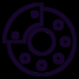 Disk brake stroke icon