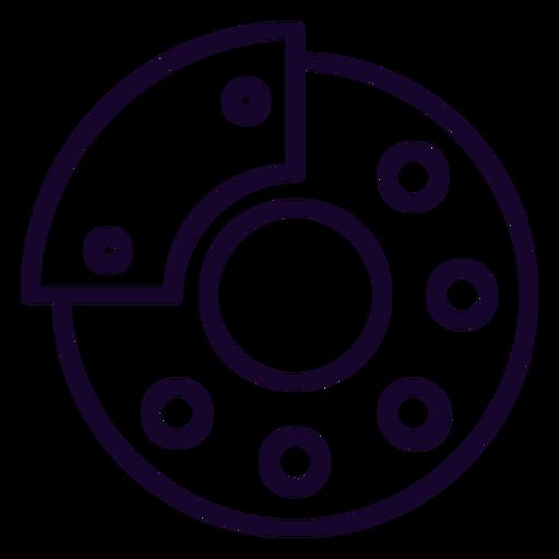 Ícone de traço de freio de disco Transparent PNG