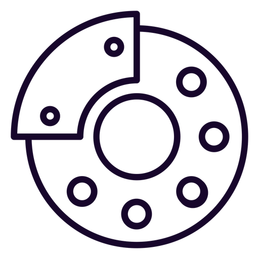 Disk brake stroke icon Transparent PNG