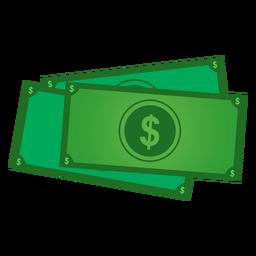 Icono de billetes de dólar