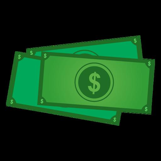 Icono de billetes de dólar Transparent PNG