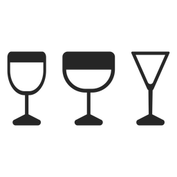 Drink glasses flat icon