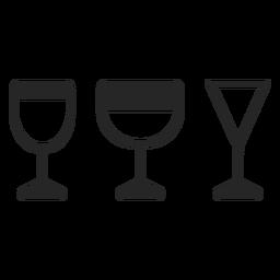 Glas flach Symbol zu trinken