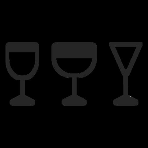 Beba vasos icono plana Transparent PNG