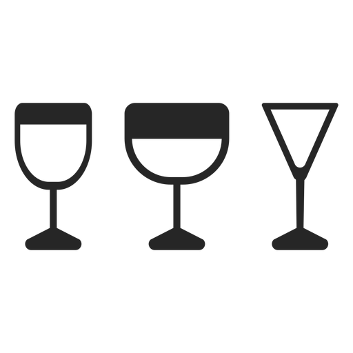 Drink glasses flat icon Transparent PNG