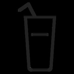Icono de vaso de beber