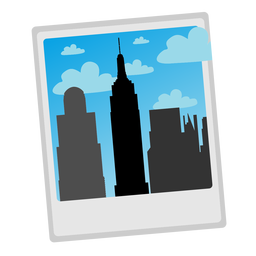 Empire state bulding photo icon