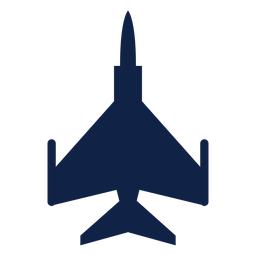 F 16 airplane top view silhouette