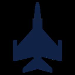 F 16 silueta de vista superior de avión