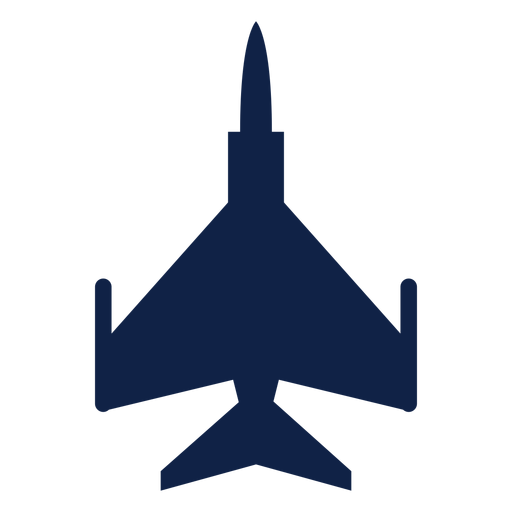 F 16 Airplane Top View Silhouette Transparent Png Svg Vector File