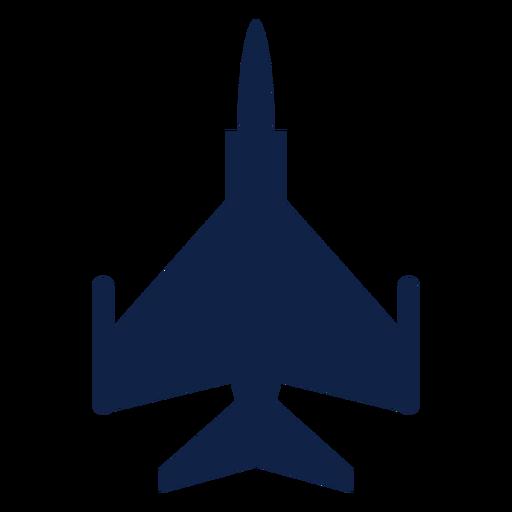 F 16 silueta de vista superior de avión Transparent PNG