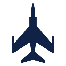 F 5 airplane top view silhouette