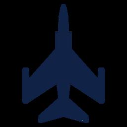 F 5 silueta de vista superior de avión