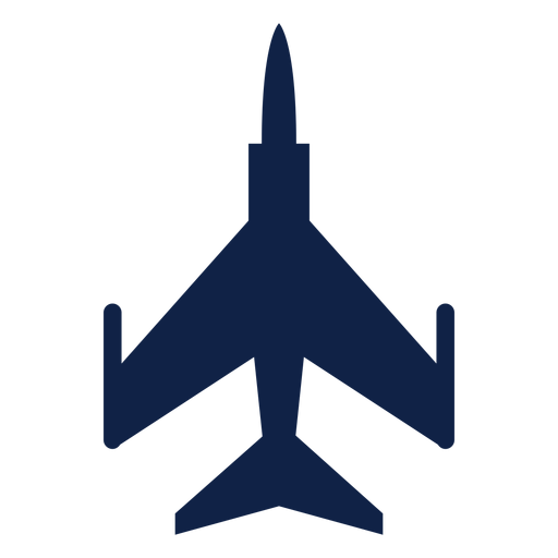 F 5 airplane top view silhouette Transparent PNG