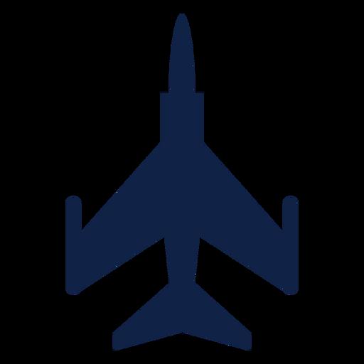 F 5 silueta de vista superior de avión Transparent PNG
