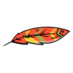 Icono de dibujos animados de plumas