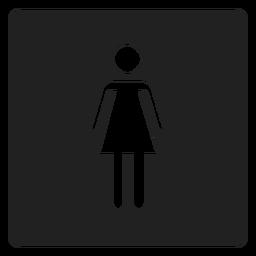 Ícone quadrado do sexo feminino