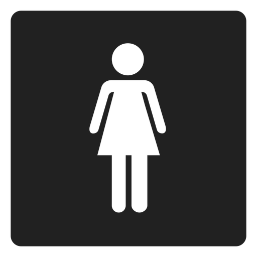 Female gender square icon Transparent PNG