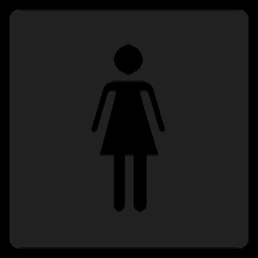 Icono cuadrado de género femenino Transparent PNG