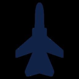 Silueta de vista superior de aviones de combate