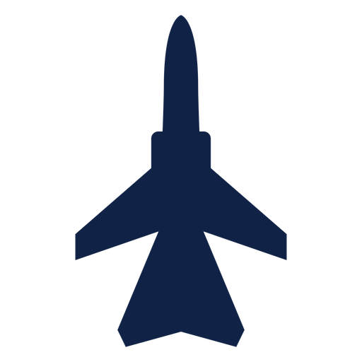 Fighter aircraft top view silhouette Transparent PNG