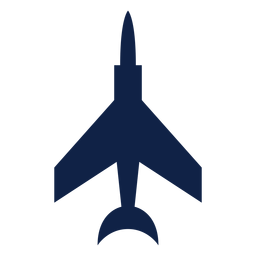 Fighter airplane top view silhouette